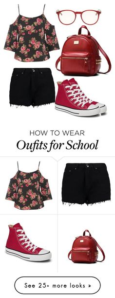 """Ready for school"" by jmccauley-i on Polyvore featuring Boohoo, Converse and Yves Saint Laurent"