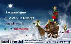 La cartolina di auguri di Natale 2013 dell'hotel I Portici di Arezzo