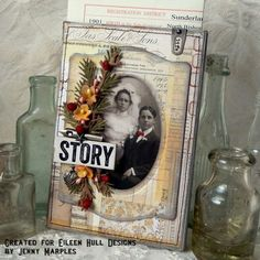 Book Club Sizzix Collection Project Ideas: Family History Trinket Box Easel Card by Jenny Marples