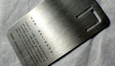 Steel Metal Business Cards