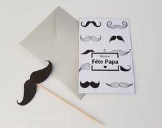 Carte Fête des Pères Moustache • Fêtes vous même