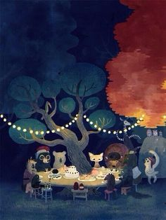 Woodland Critter Party - anyone know where I can find this print??