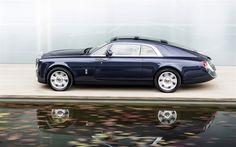 Lataa kuva Rolls-Royce Sweptail, 2017, Sivukuva, luksusautojen, luxury coupe, British autot, Rolls-Royce