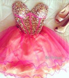 Cute sweetheart rose handmade sleeveless short prom dress / bridesmaid dress