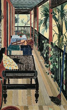 Cressida Campbell :the Verandah:  Lovely!! And my idea of Australia,where I would love to visit!
