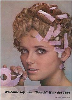 Vintage hair tape.