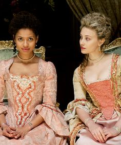 Gugu Mbatha-Raw and Sarah Gadon for Belle (2013)