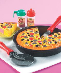 Take a look at this My-Oh-My Pizza Pie Set by Small World Toys on #zulily today!