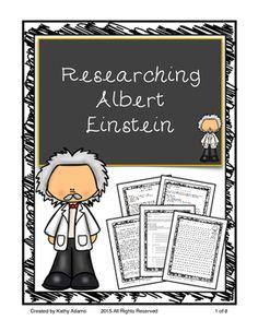 Albert Einstein Research Informative Writing, Informational Writing, 5th Grade Writing, Mathematicians, Common Core Standards, 5th Grades, Outlines, Albert Einstein, Manners