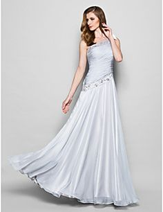 Mother of the Bride Dress Floor-length Sleeveless Chiffon A-... – USD $ 119.99