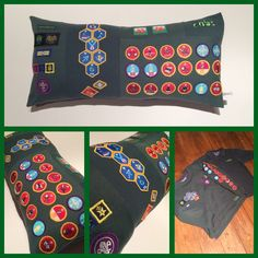 I design create and handmake Keepsake Memory Cushions/Pillows from your treasured uniforms clothes and outfits! Beavers - Cubs - Scouts - Rainbows - Brownies - Girl Guides ....Scouts association each one different and created uniquely to showcase each collection of badges for each Individual customer and cushion www.facebook.com/kasieskomfortsuk kasie@kasieskomforts.co.uk