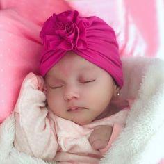 Flower Girl Headbands, Newborn Headbands, Taytum And Oakley, Cotton Beanie, Baby Flower, Baby Faces, Turban Hat, Handmade Hair Accessories, Baby Warmer