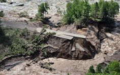 Jay Cooke State Park, washed out major sections of Hwy. 210