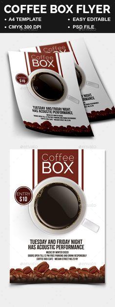 Coffee Box Flyer - Restaurant Flyers