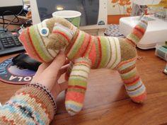 How to make a dog plushie. Sock Dog - Step 9