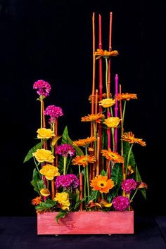 1st place and Colour Award, Glennis Liggett, Takapuna Floral Art Club