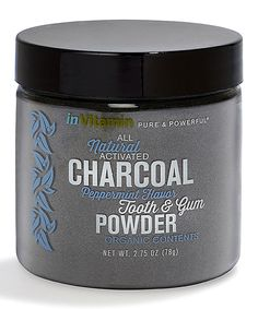 inVitamin Peppermint All-Natural Activated Charcoal Tooth & Gum Powder Activated Charcoal Teeth, Coffee Cans, Whitening, Peppermint, Beauty Hacks, Beauty Tips, Plant Based, Vitamins, Health And Beauty