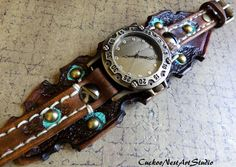 Steampunk Watch Womens Watch Wrist Watch by CuckooNestArtStudio, $117.00