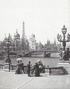 Alexandre-III bridge, Paris, 1900