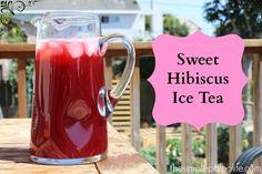 Sweet Hibiscus Ice Tea #hibiscus #icetea #paleo
