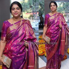 Exclusive Collection of Indian Celebrity Sarees and Designer Blouses Silk Saree Kanchipuram, Georgette Sarees, Silk Sarees, Bridal Silk Saree, Saree Wedding, Saree Blouse Patterns, Fancy Sarees, Indian Celebrities, Beautiful Saree