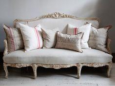 Swedish Sofa With Cushions