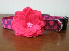 Felt floral collars that just snap on