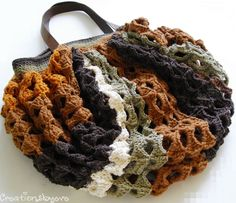 Crochet 4 Color Bag