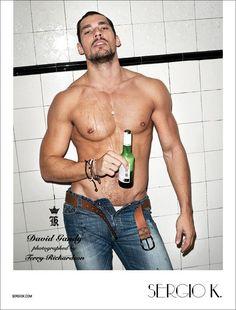 Sergio's Man–Terry Richardson photographs David Gandy for Sergio K's fall 2011 campaign. Deliciously inappropriate, David takes Sergio K's current lineup from… David Gandy, Terry Richardson, David Lachapelle, Dolce E Gabbana, Hottest Models, Perfect Man, Gorgeous Men, Beautiful People, Gq