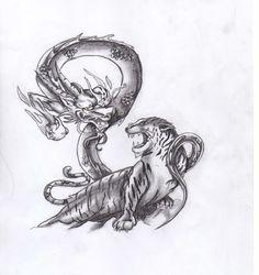 drago e tigre tattoo - Cerca con Google