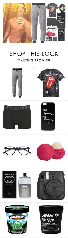 """O8:1O pm ;; OOTN"" by amazing-an0ns-23 ❤ liked on Polyvore featuring Hollywood the Jean People, Calvin Klein, Eos, Gucci, Fujifilm, men's fashion and menswear"