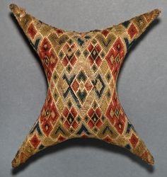 Tool (for sewing) (Pincushion) Category: Textiles (Needlework)  Place of Origin: United States, North America  Materials: Wool; Cotton