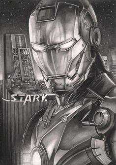 'Iron Man' graphite drawing by *Pen-Tacular-Artist on deviantART