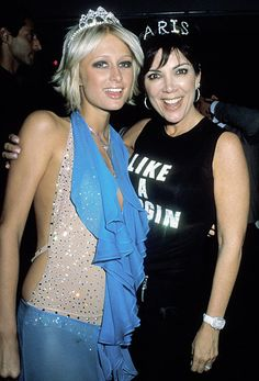 """Before she was the controversial """"momager,"""" Kris Jenner was simply a mother to the Kardashian-Jenner family. See her shocking transformation through the years. Kris Jenner, Kardashian Jenner, Celebrity Moms, Celebrity Style, Paris Hilton Style, Paris And Nicole, Young Paris, 2000s Fashion Trends, Rich Girl"""