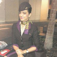 Etihad Stewardess Crewfie @preetijagiasi31