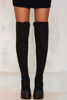 Stiù Eclisse Over-the-Knee Suede Boot - Knee High | Boots