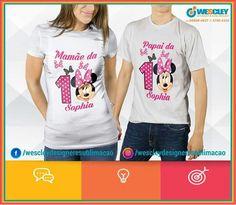 02ef327bab Camisa Personalizada Aniversário de 1 Aninho  Sophia 📲Celular  (27) 99608-