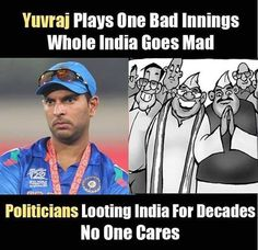 Yuvraj's Bad Inning in T20 WC Final vs Politicians