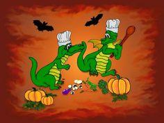 'Happy Halloween! Heute werde ich kochen!' von artkszp bei artflakes.com als Poster oder Kunstdruck $16.63