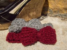 Baby Bow Headbands Set of 2  2 Crochet Hair by MalanCrochetions, $3.50