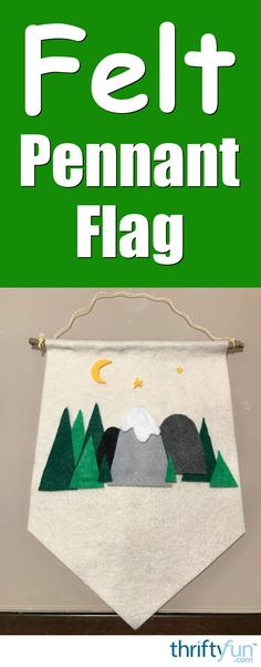 Using the theme of your choice, you can make a cute felt pennant for your child's room. This is a guide about how to make a pennant flag for a kid's room.