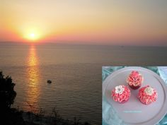 Summer Wedding Cupcakes .... Sunrise at Akrotiri Beach, Zante