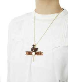 Lollipop Chocolate Swan Necklace
