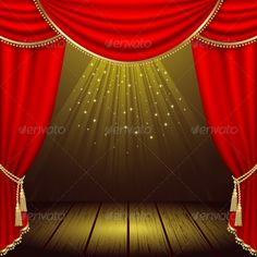 Buy Theater stage by ElenaShow on GraphicRiver. Theater stage with red curtain. Wedding Background Images, Stage Background, Studio Background Images, Retro Background, Background For Photography, Background Clipart, Stage Curtains, Red Curtains, Hanging Curtains