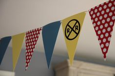 banner - yellow, red, blue