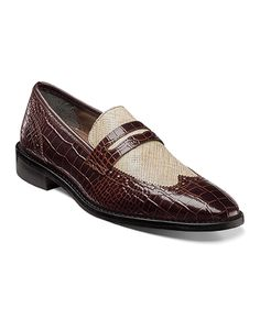 These Stacy Adams loafers feature crocodile and scratch printed leather for a unique look with comfort. ...