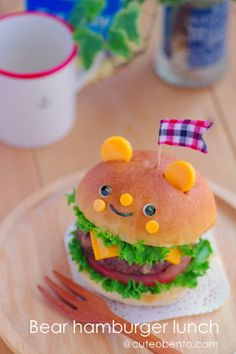 Bear lunch burger
