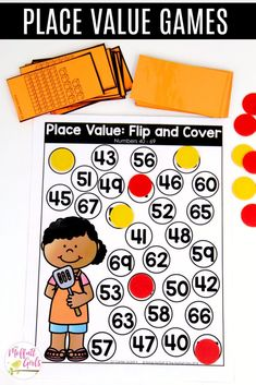 Place Value Flip and Cover- This fun 1st Grade Math activity helps students understand place values and the meaning of a number in a hands-on way!