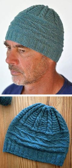 Free Knitting Pattern for Murrayfield Hat - Beanie with textured stitches and cables in gansey motifs. DK yarn. Designed by LES BONNETS NÊ. Available in English and French.