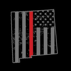 New Mexico Firefighter Thin Red Line Shirt
